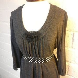Simply Vera Vera Wang Charcoal Embellished Tunic
